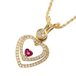 WALTHAM ウォルサム ルビー ダイヤモンド ペンダント 750イエローゴールド×ルビー ダイヤモンド レディース ネックレス DH48993【中古】Aランク