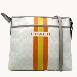 COACH コーチ F38402 肩掛け  PVCコーティングキャンバス×レザー レディース ショルダーバッグ DH49064【中古】ABランク