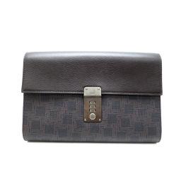 Dunhill ダンヒル セカンドバッグ 手持ち鞄 PVCコーティングキャンバス×レザー メンズ セカンドバッグ DH49100【中古】Aランク