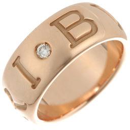 BVLGARI ブルガリ モノロゴ 1P ダイヤモンド 750ピンクゴールド×ダイヤモンド 12号 リング・指輪 DH49358【中古】Aランク