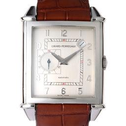 GIRARD-PERREGAUX ジラール・ペルゴ 25835 ヴィンテージ 1945 ステンレススチール×レザー メンズ 腕時計 DH49623【中古】ABランク