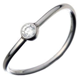 TIFFANY&Co. ティファニー エルサ・ペレッティ ウェーブ シングル ロウ ダイヤモンド Pt950プラチナ×ダイヤモンド 7号 レディース リング・指輪 DH49638【中古】Aランク