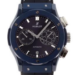 HUBLOT ウブロ 521.EX.7170.LR.UCL18 クラシックフュージョン クロノグラフ 100本限定 チャンピオンリーグ ラバー×ブルーCE メンズ 腕時計 DH49764【中古】ABランク
