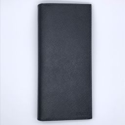 PRADA プラダ 2MV836 二つ折り×サフィアーノ メンズ 長財布 DH49936【中古】SAランク