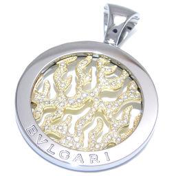BVLGARI ブルガリ トンド ファイヤ ダイヤモンド 750イエローゴールド×ステンレススチール×ダイヤモンド ペンダントトップ DH49946【中古】Aランク