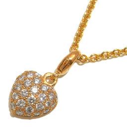 CARTIER カルティエ パヴェハート ダイヤモンド 750イエローゴールド×ダイヤモンド レディース ネックレス DH50156【中古】Aランク