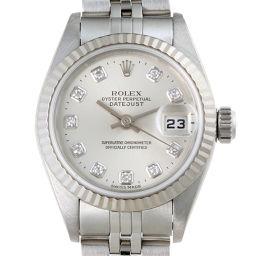 ROLEX ロレックス 79174G デイトジャスト P番 (2000年製) ステンレススチール×ホワイトゴールド レディース 腕時計 DH50185【中古】ABランク