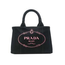 PRADA プラダ 1BG439 持ち手鞄 肩掛け ショルダー キャンバス レディース ハンドバッグ DH50278【中古】Aランク