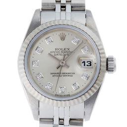 ROLEX ロレックス 69174G デイトジャスト W番 (1994年製) ステンレススチール×ホワイトゴールド レディース 腕時計 DH50995【中古】ABランク