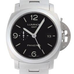PANERAI パネライ PAM00329 ルミノール 1950 3デイズ GMT ステンレススチール メンズ 腕時計 DH50996【中古】ABランク