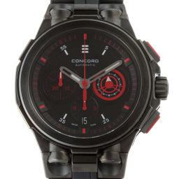 Concord コンコルド 04.6.36.1067 C2 クロノグラフ ステンレススチール×レザー メンズ 腕時計 DH51123【中古】ABランク