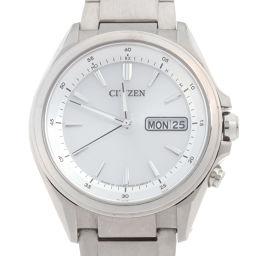 CITIZEN シチズン H100-S098335 アテッサ エコドライブ 電波ソーラー チタン メンズ 腕時計 DH51126【中古】ABランク