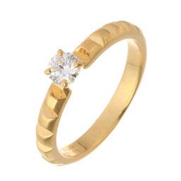 Boucheron ブシュロン ポワント ド ディアマン ソリテール ダイヤモンド 750イエローゴールド×ダイヤモンド 9号 レディース リング・指輪 DH51224【中古】Aランク