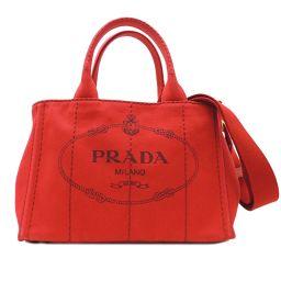 PRADA プラダ 1GB439 カナパ キャンバス レディース トートバッグ DH51282【中古】ABランク