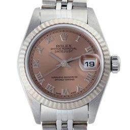ROLEX ロレックス 79174 デイトジャスト ステンレススチール×ホワイトゴールド Y番(02年製)刻印 レディース 腕時計 DH51572【中古】Aランク