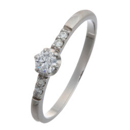 Samantha Tiara Samantha Tiara Diamond Pt900 Platinum x Diamond No. 11 Ladies Ring / Ring DH51589 [pre-owned] A rank