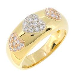 CHIMENTO Kiment Diamond × 750 Three Color Gold Diamond No. 12 Ladies Ring / Ring DH51662 [Pre] A rank