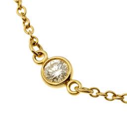 TIFFANY&Co. ティファニー バイザヤード 3P ダイヤモンド 750イエローゴールド レディース ブレスレット DH51765【中古】Aランク