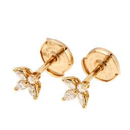 TIFFANY&Co. ティファニー ミニビクトリア ダイヤモンド 750ピンクゴールド レディース ピアス DH51766【中古】Aランク