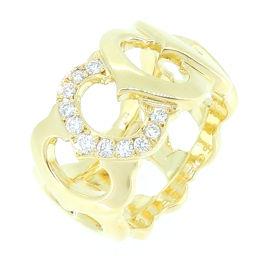 CARTIER カルティエ Cドゥ カルティエ ダイヤモンド 750イエローゴールド 13号 レディース リング・指輪 DH52396【中古】Aランク