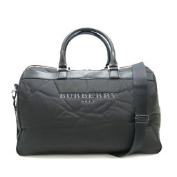BURBERRY Burberry 2WAY Burberry Golf Men's Golf Nylon × Leather Women's / Men's Boston Bag DH52706 [pre-owned] A rank