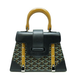 GOYARD Goyar Saigon PM Mini Handbag Ladies Wood Handle PVC x Wood Ladies Handbag DH52707 [pre-owned] AB rank
