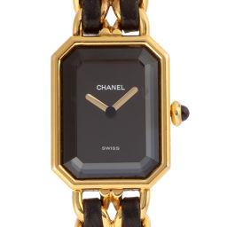 CHANEL シャネル H0001 プルミエール #M GP×レザー レディース 腕時計 DH52760【中古】Aランク
