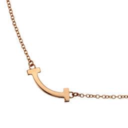 TIFFANY&Co. ティファニー Tスマイル マイクロ 750ピンクゴールド レディース ネックレス DH52762【中古】Aランク