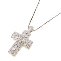 Damiani Damiani Cross Diamond 750 White Gold × Diamond Ladies Necklace DH53212 [Pre] A rank