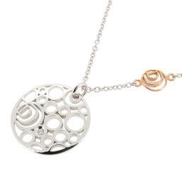Damiani Damiani Damianisima Diamond 750 White Gold × 750 Pink Gold Ladies Necklace DH53412 [Used] A rank