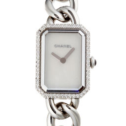 CHANEL シャネル H3253 プルミエール ベゼルダイヤモンド ステンレススチール レディース 腕時計 DH53497【中古】Aランク