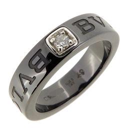 BVLGARI ブルガリ ダブルロゴ 750ホワイトゴールド×ブラックセラミック 9号 レディース リング・指輪 DH53586【中古】Aランク