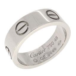 CARTIER カルティエ ラブ 750ホワイトゴールド 8号 レディース リング・指輪 DH53699【中古】Aランク