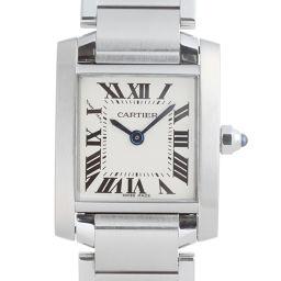 CARTIER カルティエ W51008Q3 タンクフランセーズ SM ステンレススチール レディース 腕時計 DH53813【中古】Aランク