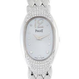 PIAGET ピアジェ P10002 ライムライト ベゼルダイヤモンド 750ホワイトゴールド×ダイヤモンド レディース 腕時計 DH53876【中古】Aランク