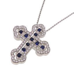 Damiani Damiani Belle Epoque Diamond Sapphire 750 White Gold × Diamond Sapphire Ladies Necklace DH54118 [Pre] A rank