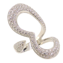 PIAGET Piaget Limelight Heart Diamond 750 White Gold No. 12 Ladies Ring & Ring DH54680 [Pre] A rank