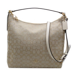 COACH Coach F58327 Signature Celest Convertible Hobo 2way Bag Canvas × Leather Ladies Shoulder Bag DH54809 [Used] A rank