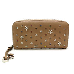 JIMMY CHOO Philippa Star studs round zipper wallet leather ladies wallet DH54950 [used] AB rank
