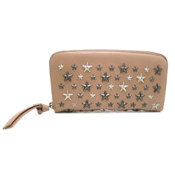 JIMMY CHOO Jimmy Choo FILIPA Star studded leather ladies long wallet DH55195 [pre-owned] S rank