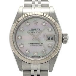 ROLEX ロレックス 79174NG デイトジャスト 10P ダイヤモンド F番 2004年製 ステンレススチール×ホワイトゴールド レディース 腕時計 DH55258【中古】Aランク
