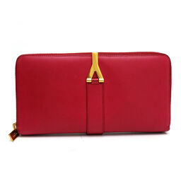 Yves Saint Laurent 314991-0416 Round Zipper Wallet Leather Ladies Long Wallet DH55304 [Used] AB rank