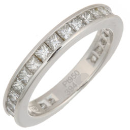 HARRY WINSTON Harry Winston Princess Cut Channel Set Diamond Pt950 Platinum 9 Lady's Ring / Ring DH55307 [Used] A Rank