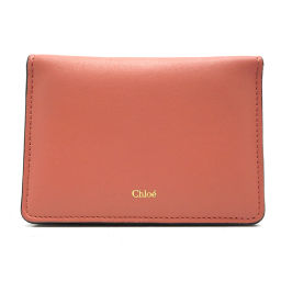 Chloe Chloe 02-16-60-65 Passcode Leather Ladies Card Case DH55378 [Used]
