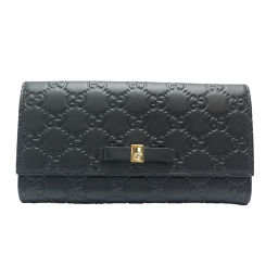 GUCCI Gucci 388679 Gucci Shima leather women's long wallet DH55499 [pre-owned] A rank