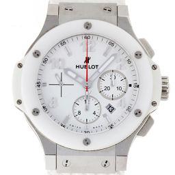 HUBLOT Hublot 301.SE.230.RW Big Bang St. Moritz Ceramic × Stainless Steel × Rubber Men's Watch DH55545 [Used] AB Rank