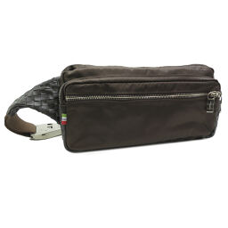 Orobianco Orobianco Waist Pouch Nylon × Leather Men's Body Bag DH55606 [Used] A Rank
