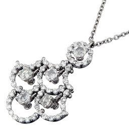 Damiani Damiani 20021455 Juliet Diamond 750 White Gold x 750 Yellow Gold Ladies Necklace DH55907 [Used] Rank A