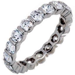 HARRY WINSTON Harry Winston Round Bar Set Diamond Pt950 Platinum 6.5 Lady's Ring / Ring DH56060 [Used] A Rank