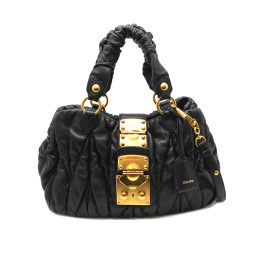 MIUMIU Miu Miu RN0473 2WAY Bag Leather Ladies Handbag DH56206 [Used]